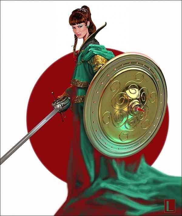 Celmar girl with sword 1 8302d3dc d5or