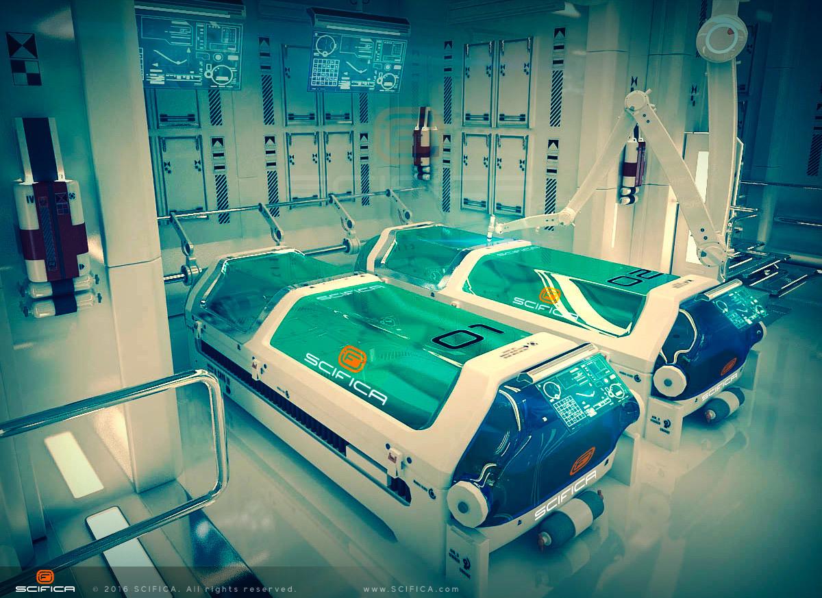 SciFi Laboratory Interior 3D Model By Scifica