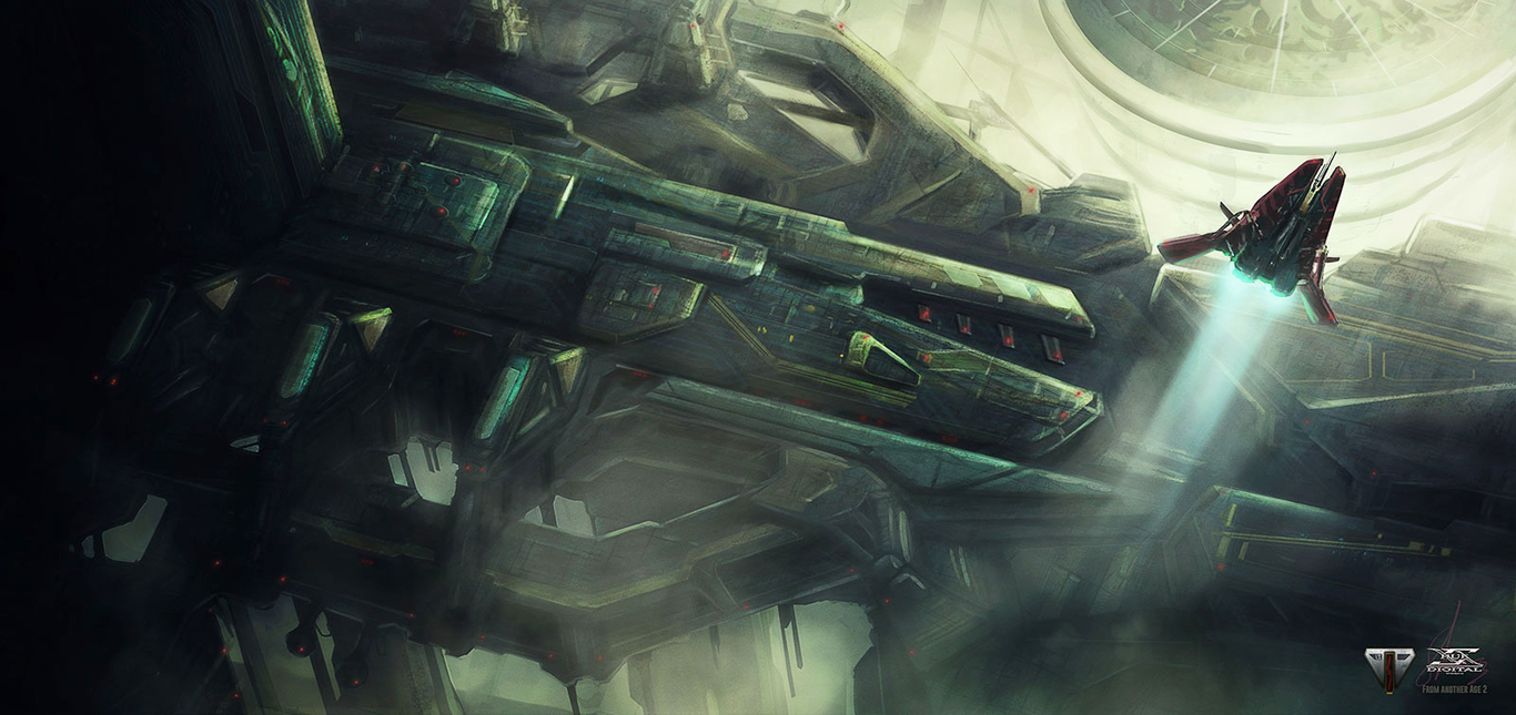 """From Another Age - concept art 2 - """"Headquarter Terminal"""""""