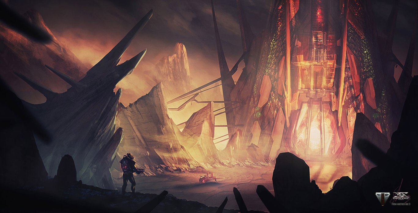 """From Another Age - concept art 3 - """"SUNIUM UNIT"""""""