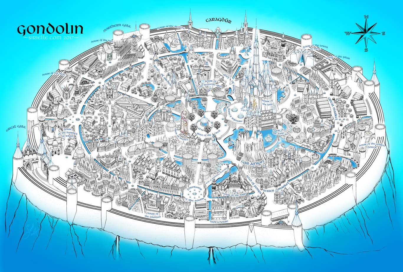 Gondolin in blue